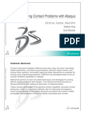 Solving Contact Problems With Abaqus | Mechanical Engineering