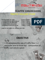 CC503 – TRAFFIC ENGINEERING (TRAFIC VOLUME STUDY)