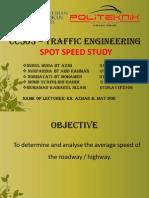 CC503 – TRAFFIC ENGINEERING SPOT SPEED STUDY