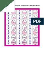 Fichas Del Juego de Dominc3b3 de Fracciones