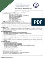 Plano de Disciplina Ped i - 1sem 2013