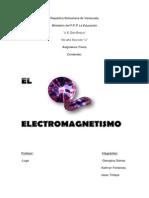Trabajo de FISICA - ELECTROMAGNETISMO - CAMPO MAGNETICO Y ELECTRICO.