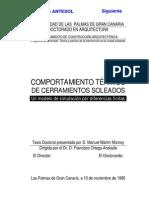 Comportamiento térmico de cerramientos soleados - TESIS