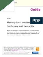 9 Memory Loss Depression Confusion and Dementia