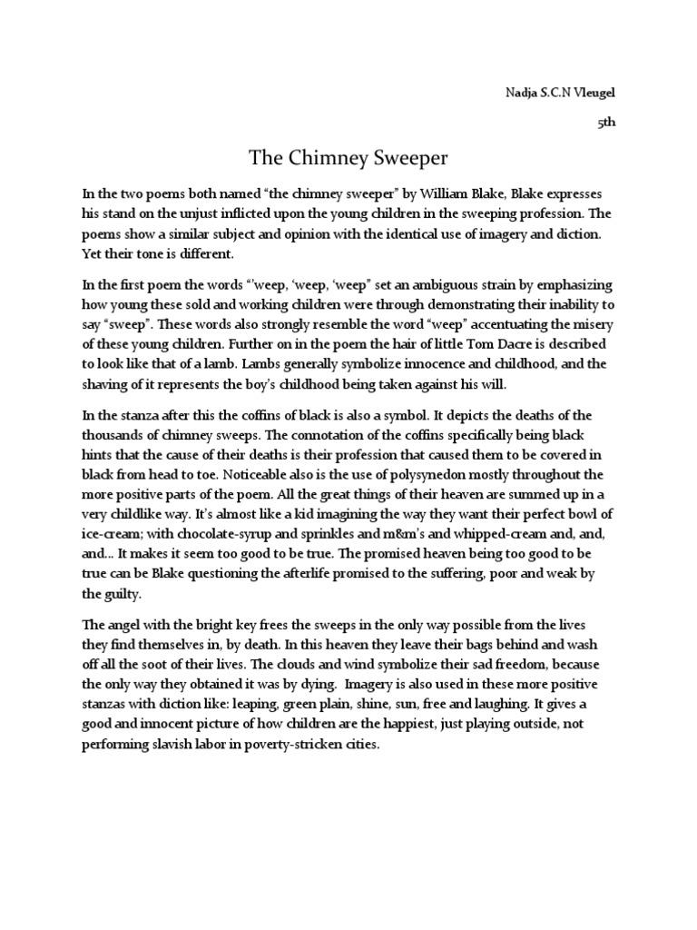 Chimney Sweep AP Lit | William Blake | Poetry