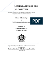 Vlsi Implementation of Aes Algorithm