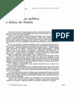 criminalização política e defesa do estado