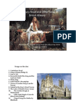 Canterbury Road and Other Songs of British History, Lyric Booklet