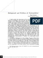 Background and Problem of Existentialism