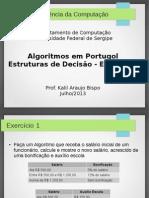 10 - Algoritmos em Portugol Com Estruturas de Decisão - Exercícios.pdf