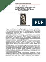 S. S. LEÓN X REGLA DE LA TERCERA ORDEN REGULAR DE SAN FRANCISCO DE ASÍS Constitución Apostólica «Inter cetera»