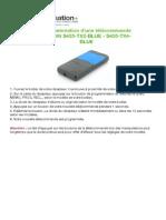 Telecommande Cardin Notice s435 Tx2