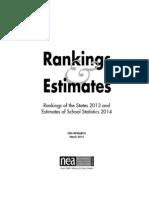 NEA Rankings and Estimates 2013 2014
