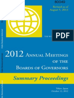 World Bank Annual Meeting of Board of Governors