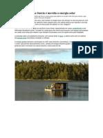 Casa flutuante na Suécia é movida a energia solar
