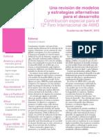 revisión de modelos y estrategias alternativas para el desarrollo