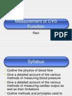 Measurement of CVS Function