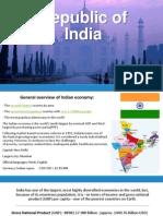 The economy of the Republic of India