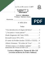 Unidad 1- Héroes- 4º año 2014