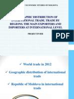 Geographic distribution of international trade