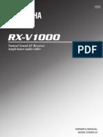 Yamaha Receiver RX-V1000 Manual