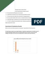 task 2 questionnaire