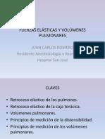 FUERZAS ELÁSTICAS Y VOLÚMENES PULMONARES