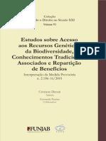 Estudos sobre Acesso aos Recursos Genéticos da Biodiversidade, Conhecimentos Tradicionais Associados e Repartição de Benefícios