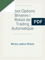 Robot Options Binaires