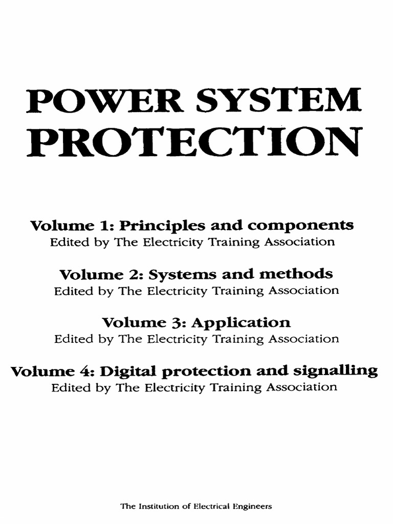 Power system protection vol 1 principles and components 2nd ed power system protection vol 1 principles and components 2nd ed ieee 1995 ww relay electrical substation fandeluxe Image collections