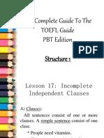 TOEFL - Structure 1.0