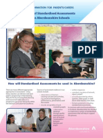 use of standardised assessment in aberdeenshire schools