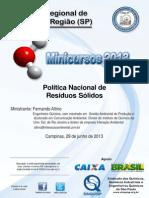 Politica Nacional de Residuos Solidos