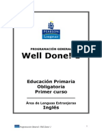 Well Done! 1 Programación General