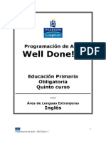Well Done! 5 Programación de Aula