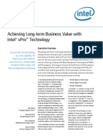 Achieving Long-Term Business Value With Intel vPro Technology
