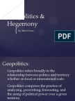 Geopolitics & Hegemony