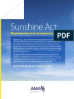 AMA - Sunshine Act Physician Financial Transparency Reports