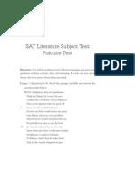 SATLiterature Practice