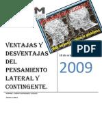 Ventajas y Desventajas Del to Lateral y Contingente