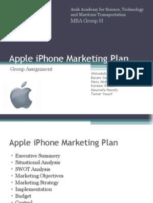 Apple iPhone Marketing Plan   Apple Inc    I Phone