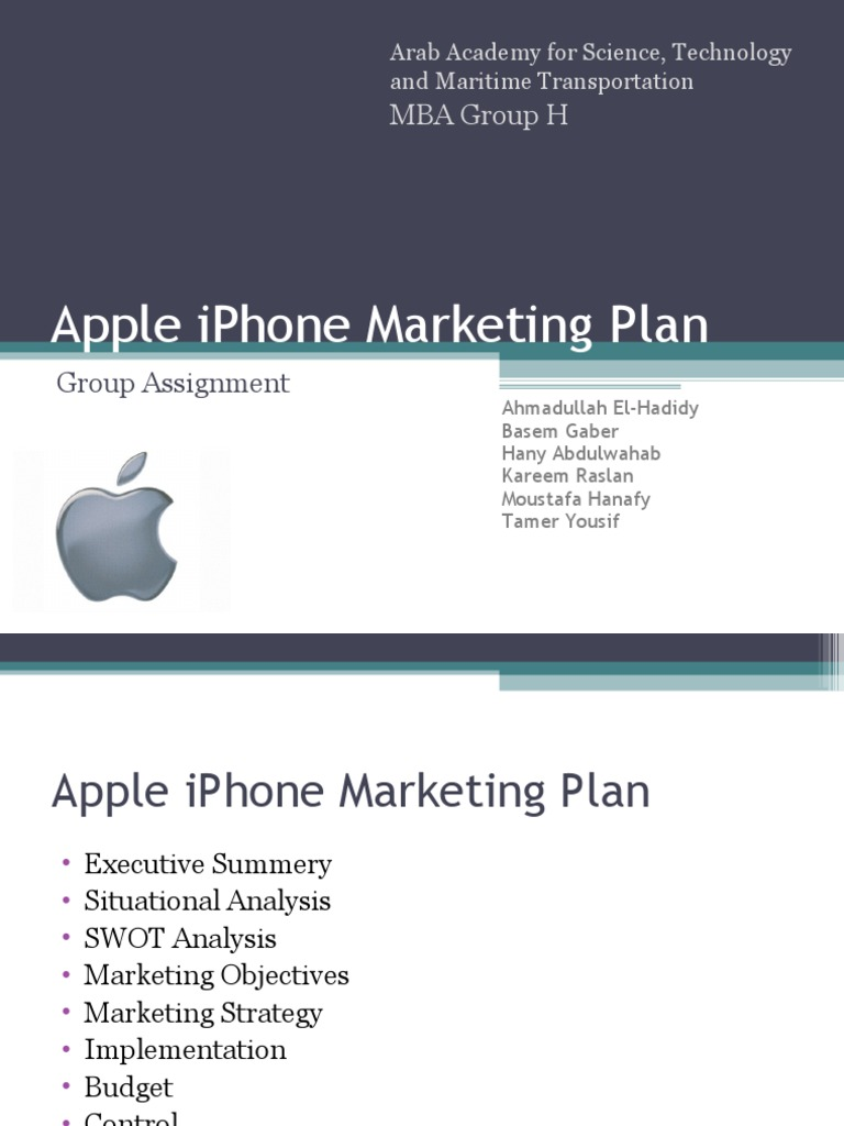 apple iphone plan apple iphone marketing plan apple inc i phone 10127