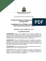 Ley Telecomunicaciones Honduras