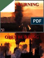 Open Burning - Environmental education