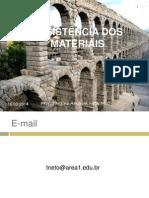 RESISTÊNCIA DOS MATERIAIS- aula 1 e 2