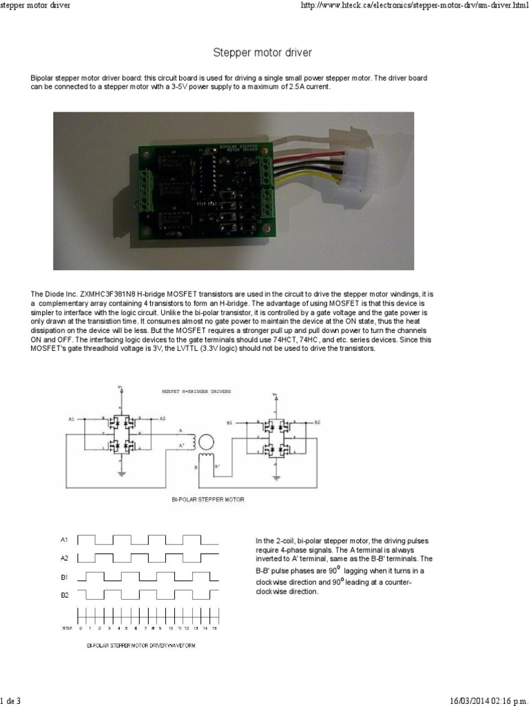 Stepper Motor Driver Field Effect Transistor Mosfet Circuit Diagram Of Microcontroller And