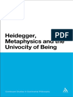 Philip Tonner Heidegger, Metaphysics and the Univocity of Being