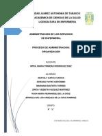 ORGANIZACIÓN DEL PROCESO ADMINISTRATIVO