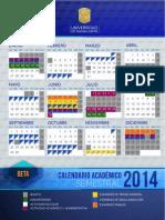 Calendario Semestral 2014 Universidad Guanajuato