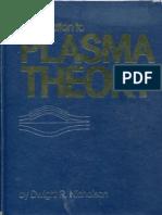 Dwight R Nicholson Introduction to Plasma Theory 1983